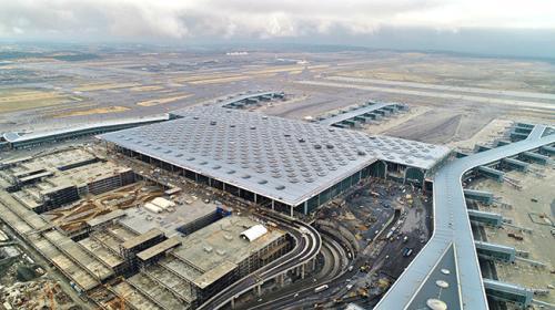 İstanbul Yeni Havalimanı havadan görüntülendi