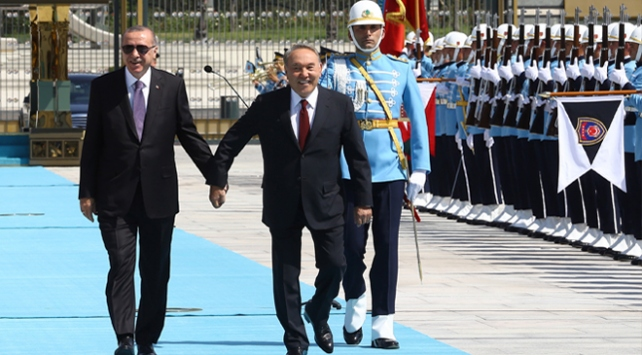 Kazakistan Cumhurbaşkanı Nazarbayev Türkiyede