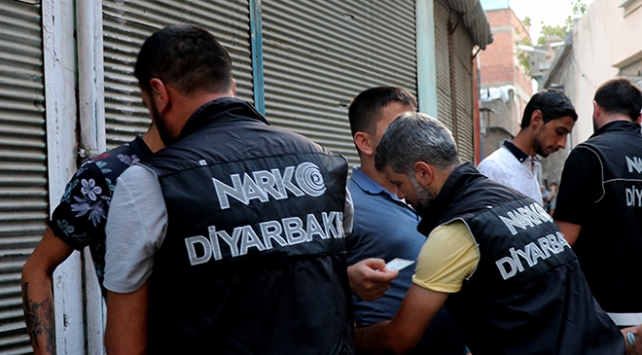 Diyarbakırda hava destekli narkotik uygulaması