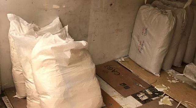 Ankarada 2 ton 600 kilogram kaçak tütün ele geçirildi