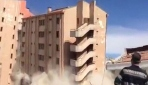 Ispartada eski devlet hastanesi saniyeler içinde böyle yıkıldı