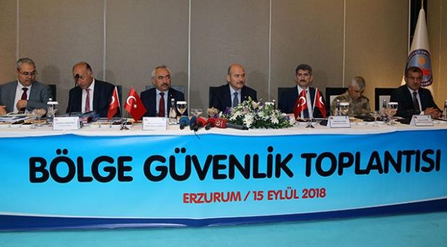 Bakan Soylu Erzurumda Bölge Güvenlik Toplantısına başkanlık etti