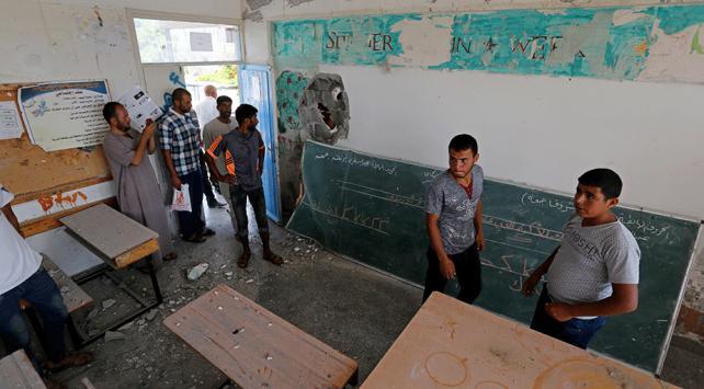 İsrailin Han Yunustaki okulu hedef almasına tepki