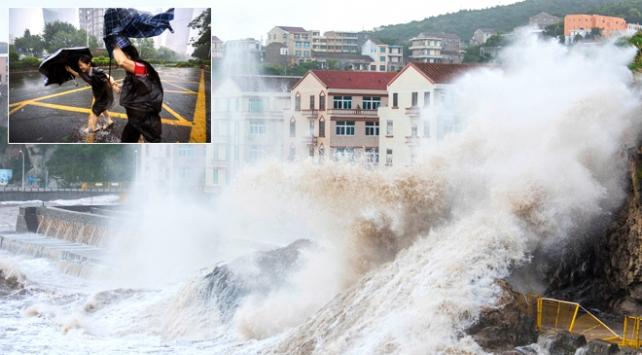 Çinde Mangkhut tayfunu nedeniyle kırmızı alarm