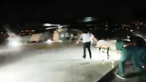TSK, yaralı vatandaşı hastaneye helikopterle taşıdı