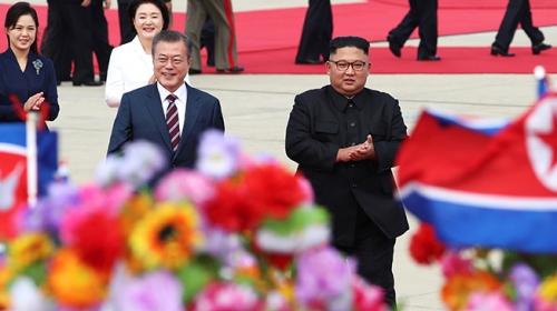 Güney Kore ve Kuzey Kore liderleri Pyongyangda buluştu