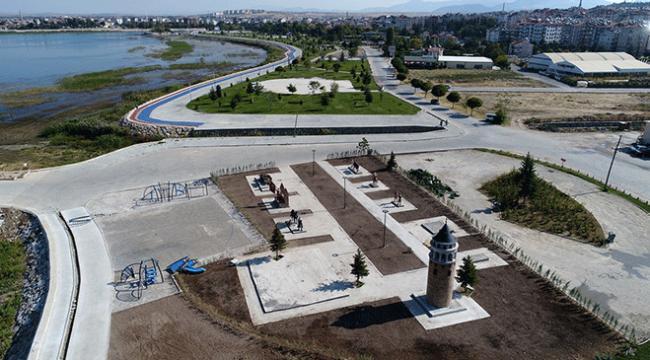 Beyşehirde masal kahramanları parkına yoğun ilgi