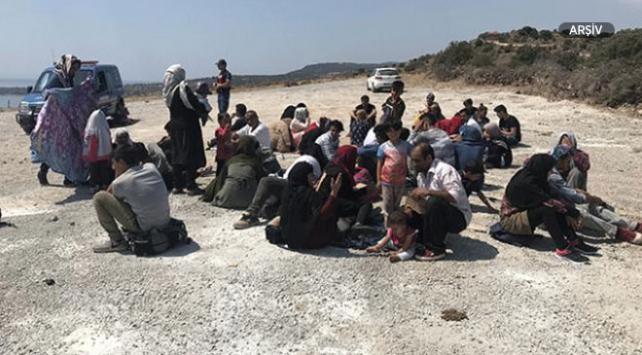 Çanakkalede 105 göçmen yakalandı