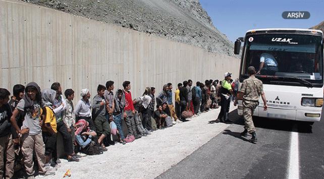 Sivasta 22 göçmen yakalandı