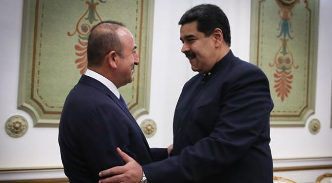 Dışişleri Bakanı Çavuşoğlu, Venezuela Devlet Başkanı Maduro ile görüştü