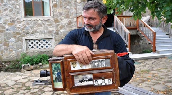 Baba yadigarı fotoğraf makinasıyla geçmişin izlerini canlı tutuyor