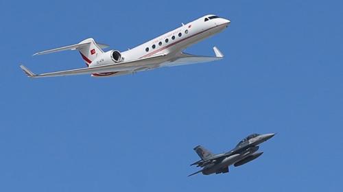 Cumhurbaşkanı Erdoğan İstanbul Yeni Havalimanına uçakla geldi