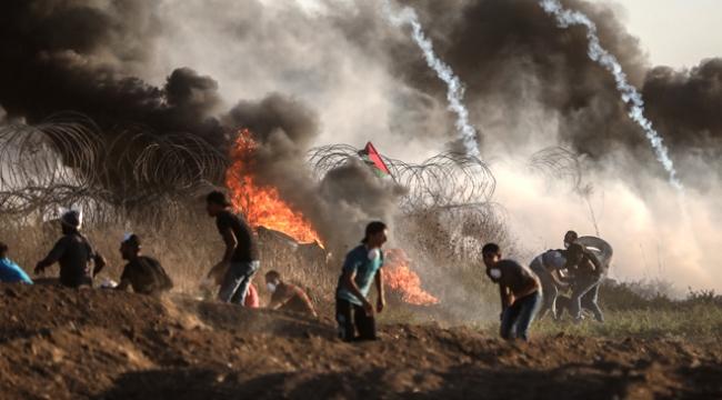 Gazze sınırında 11 Filistinli yaralandı