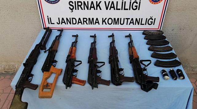 Şırnakta teröristlere ait silah ve mühimmat bulundu