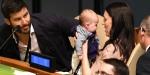 Yeni Zelanda Başbakanı Ardern BMdeki zirveye bebeğiyle geldi