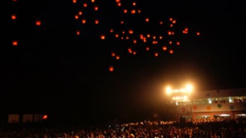 Tayvanda yüzlerce fener gökyüzünü aydınlattı