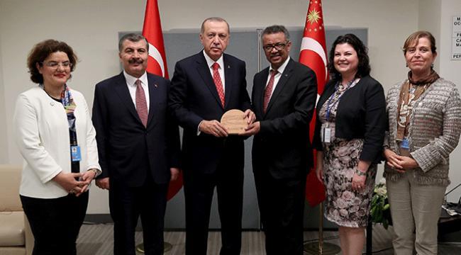 Dünya Sağlık Örgütünden Sağlık Bakanlığına başarı ödülü