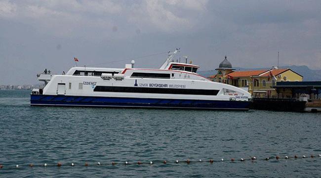 İzmirde deniz ulaşımına olumsuz hava engeli