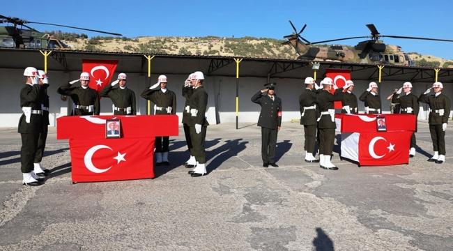 Şırnakta 2 şehit korucu için tören düzenlendi