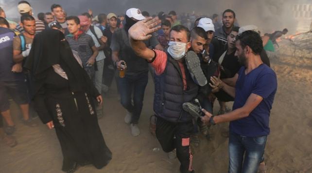 Gazzedeki işgal karşıtı gösterilerde 6 Filistinli şehit oldu