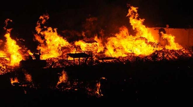 Kocaelide palet imalathanesinde yangın çıktı