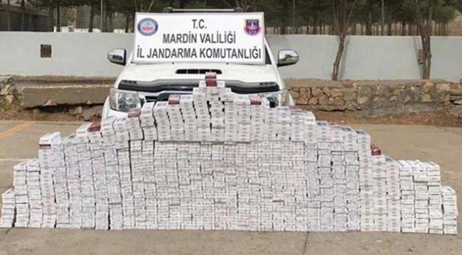 Mardinde 8 bin paket kaçak sigara ele geçirildi