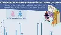 AB Vatandaşlarının Yüzde 5'i Evden Çalışıyor