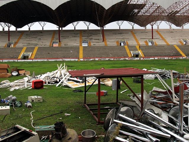 Samsunda eski 19 Mayıs Stadyumunun yıkımına başlandı