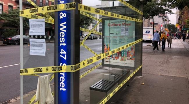 New Yorktaki otobüs duraklarının yarısı kapatıldı