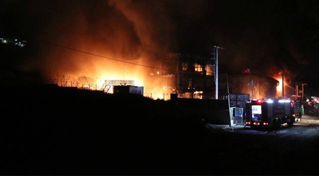 Bursada Kayapa Sanayi Bölgesinde yangın