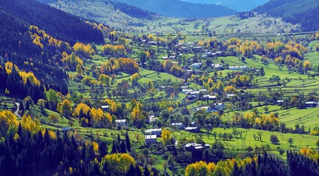 Artvin Karçal Dağlarında sonbahar güzelliği