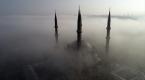 Selimiye Camisinin sis bulutu arasındaki görüntüsü büyüledi