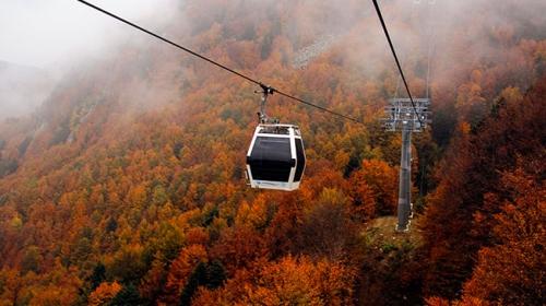 Uludağa teleferikle rengarenk sonbahar yolculuğu