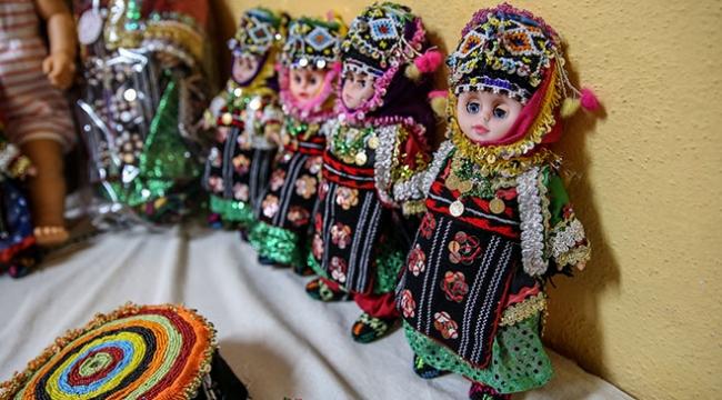 """Bursanın """"Keles bebekleri"""" bölge kadınının gelir kaynağı oldu"""