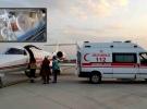 Ambulans uçak minik Rüzgar Asaf için havalandı