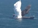 Hizmet dışına ayrılan gemi harp torpidosu ile vuruldu