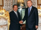 Cumhurbaşkanı Erdoğan Kamboçya Başbakanı Hun Sen'i kabul etti