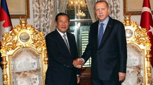 Cumhurbaşkanı Erdoğan Kamboçya Başbakanı Hun Seni kabul etti