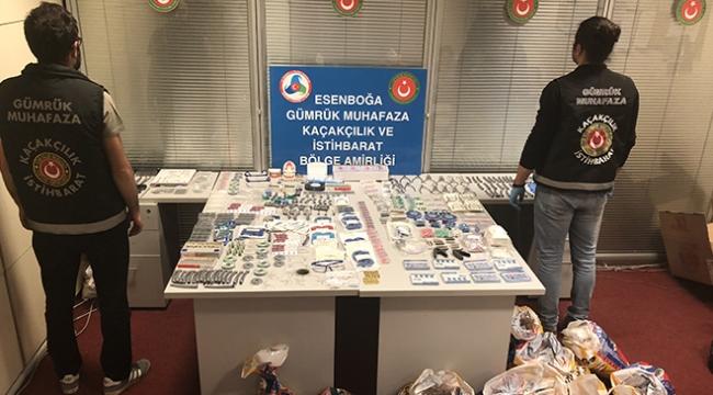 Ankarada kaçak dişçilik malzemeleri ele geçirildi