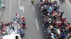 Guatemala-Meksika sınırında mahsur kalan göçmenler