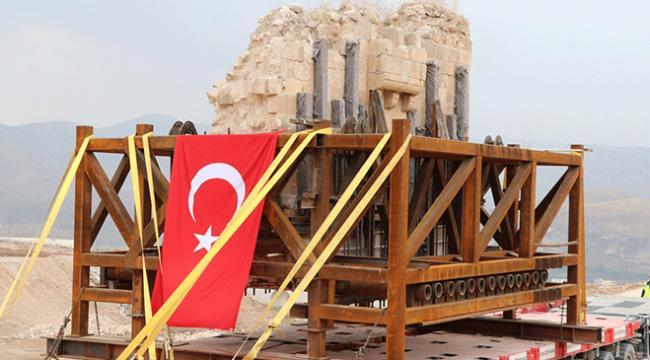 Hasankeyf Kalesi orta kapısının taşınma işlemi tamamlandı