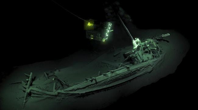 Karadenizde en eski gemi enkazına ulaşıldı