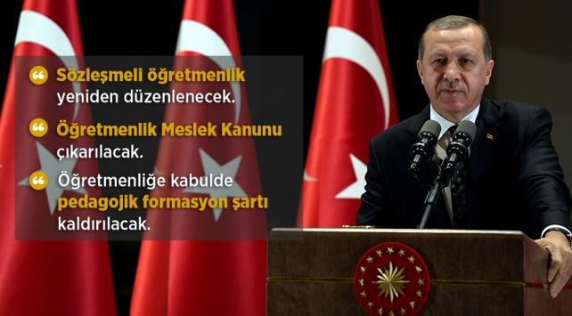 Cumhurbaşkanı Erdoğan: Öğretmenlik Meslek Kanunu çıkarılacak