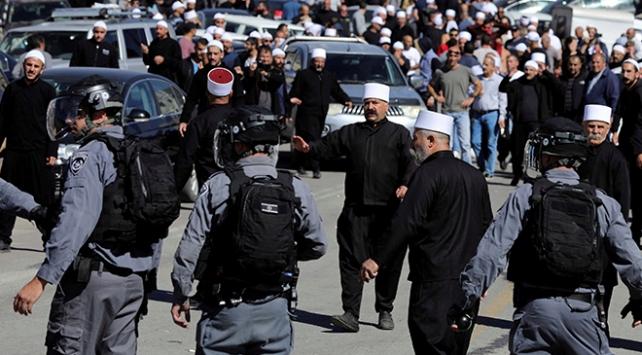 Seçimleri protesto eden Dürzilere İsrail polisinden müdahale