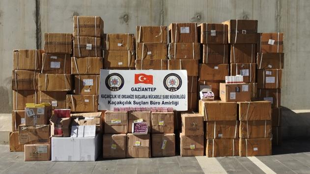 Gaziantepte 526 bin 115 gümrük kaçağı ilaç ele geçirildi