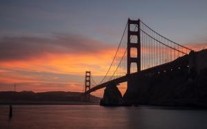 San Franciscoda gün batımı