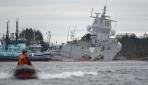 Norveç donanmasına ait gemi petrol tankeriyle çarpıştı