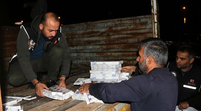 Kahramanmaraşta sigara kaçakçılığı: 5 bin 900 paket ele geçirildi
