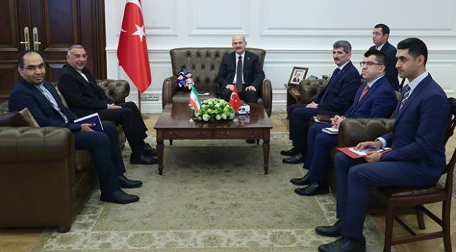 Bakan Soylu İranın Ankara Büyükelçisi Fardı kabul etti