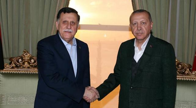 Cumhurbaşkanı Erdoğan, Fayez Mustafa Al-Sarrajı kabul etti